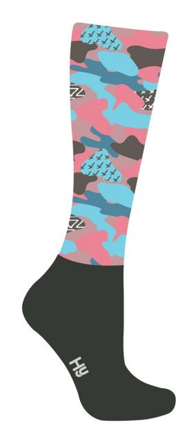 Hy HY Equestrian Fashion Printed Socks